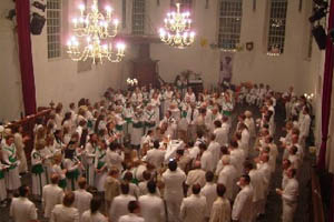 Dancing and singing after drinking the sacrament